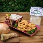 Onion Horseradish Dip Prepared with Onion Rings