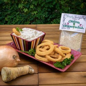 Onion Horseradish Dip Prepared with Onion Rings