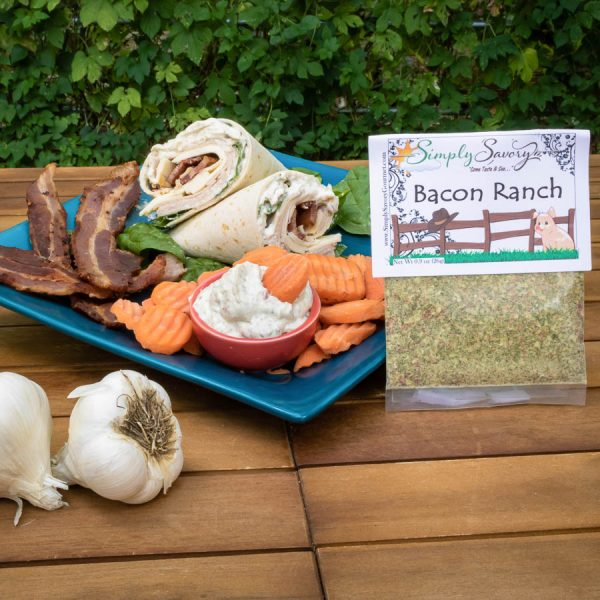 Bacon Ranch Dip Mix Prepared as a sandwich wrap spread