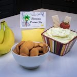 Banana Cream Pie Dessert Dip served with Vanilla Wafers