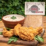 BBQ Ranch Dip with fried chicken tenders