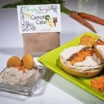 Carrot Cake Dessert Mix prepared as a dip and spread on a bagel