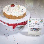 Celebration Cheesecake Dessert Mix prepared as a Cheesecake