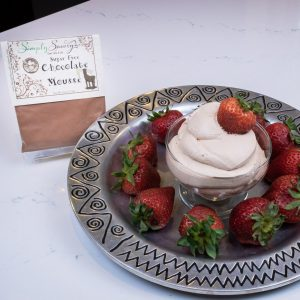 Sugar Free Chocolate Mousse Prepared with Strawberries
