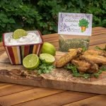 Cilantro Lime Ranch Dip with wings
