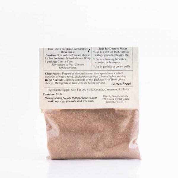Cinn-a-Yum Dessert Mix Packet - back