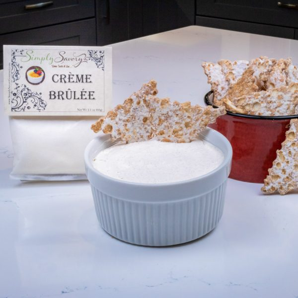 Creme Brulee Dessert Mix Prepared with Cannoli Chips