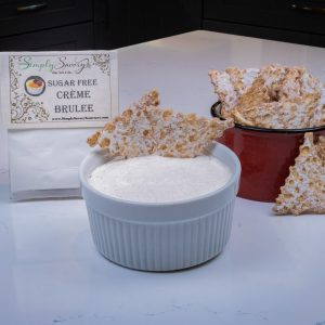 Sugar Free Creme Brulee Dessert Mix Prepared with Cannoli Chips