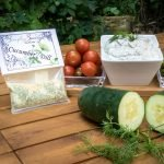 Cucumber Dill Dip Prepared and served with vegetables
