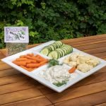 Divine Dill Dip Mix prepared with vegetables