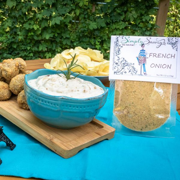 French Onion Dip Mix prepared with Fried Mushrooms