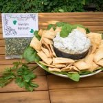 Garden Spinach Dip Prepared with Pita Chips