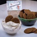 Gingerbread Dessert Mix Prepared as a dip with Gingersnaps