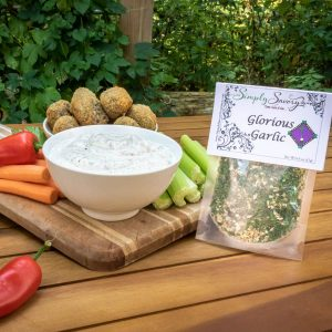Glorious Garlic Dip Prepared with Breaded Mushrooms
