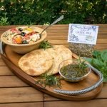 Greek Isle Olive Oil Dip prepared for pasta salad and bread dipping