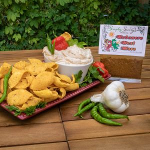 Habanero Heat Wave Dip Prepared with Corn Chips