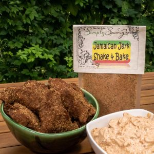 Jamaican Jerk Shake & Bake Seasoning Prepared on Chicken Nuggets
