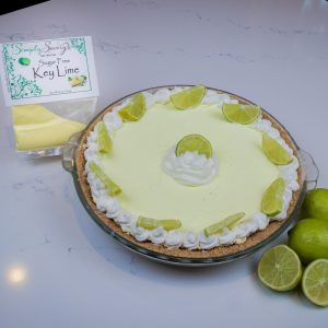Sugar Free Key Lime Pie Dessert Mix Prepared as a Pie