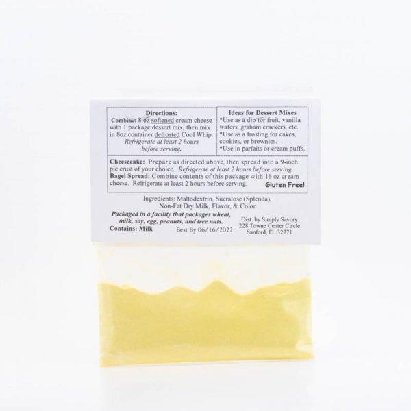 Sugar Free Key Lime Pie Dessert Mix Packet - Back