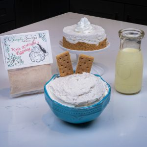 Kris Kringle Egg Nog dip with graham crackers