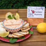 Lobster Supreme Dip Prepared with Bagel Chips