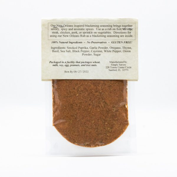 New Orleans Rub Packet - Back
