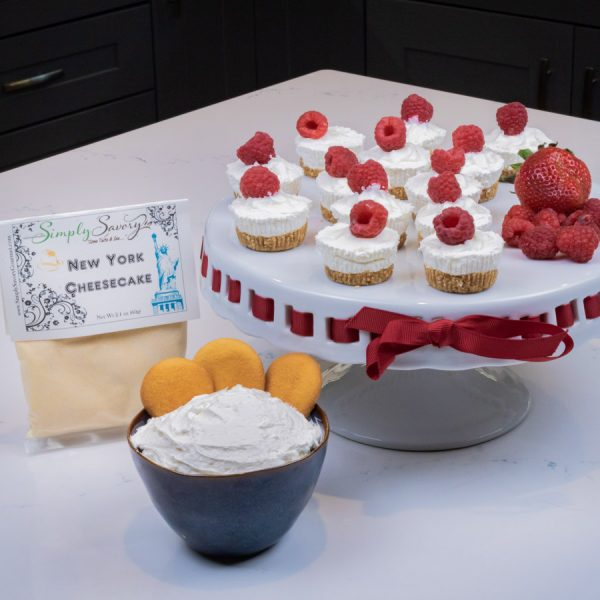 New York Cheesecake Dessert Mix Prepared as a dip and mini cheesecakes