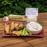 Perfect Parmesan Ranch Dip Prepared with Wings
