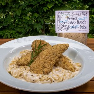 Perfect Parmesan Ranch Shake & Bake Seasoning Prepared for Chicken Alfredo