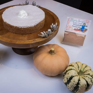 Sugar Free Pumpkin Cheese Cake dessert prepared