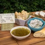 Roasted Garlic & Herb Dip and Oil with bread