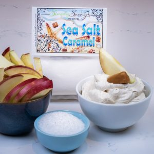 Sea Salt Caramel Dessert Mix Prepared with Apples