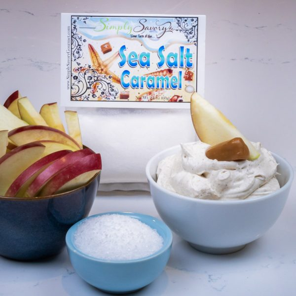 Sea Salt Caramel Dessert Mix Prepared with Apples