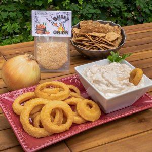 Smoky Onion Dip Prepared with Onion Rings