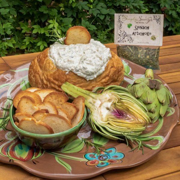 Spinach Artichoke Prepared Dip in Bread Bowl