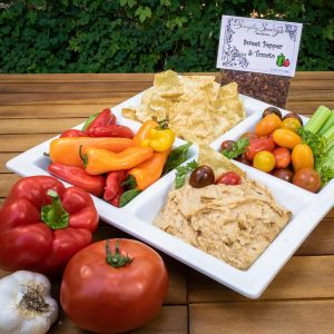 Sweet Pepper & Tomato Prepared Dip with vegetables