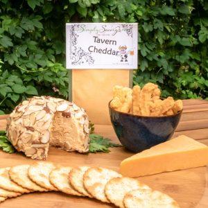 Tavern Cheddar Prepared Dip as a Cheeseball